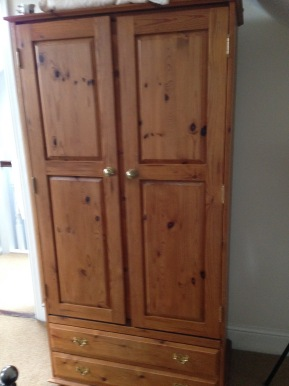 Pine Wardrobe - Before