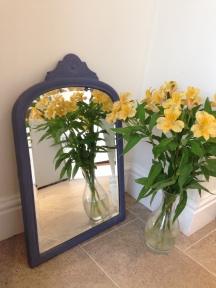 Vintage mirror painted in Old Violet